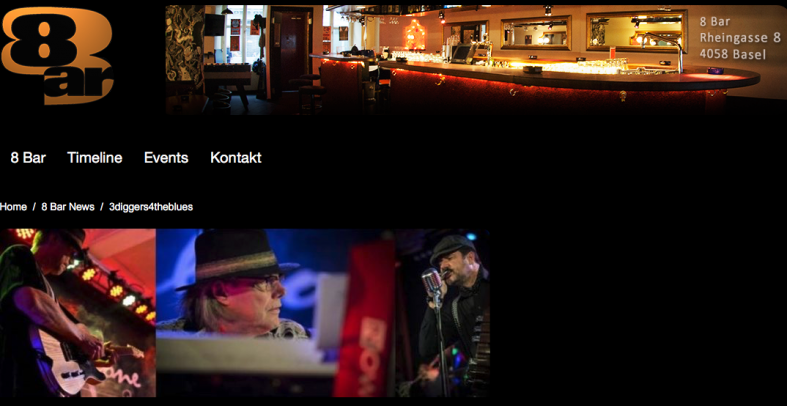 Reminder: 3diggers4theblues – Thursday 8-Bar in Basel!