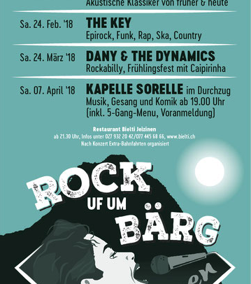 """Heute im Walliser Bote: Über 20 Jahre """"Rock Uf Um Bärg"""" – 20 Jahre """"Diggin' The Blues""""."""